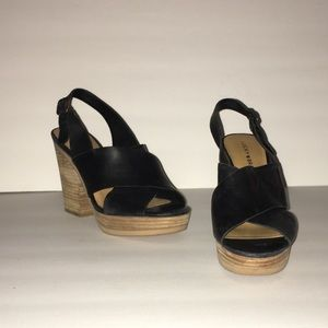 Lucky Brand Black Faux Leather Heels!